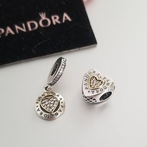 Pandora Silver and Gold Charms Bundle
